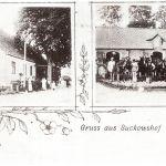 Żukowo, zabudowania stadniny, karta pocztowa lata 30/40. XX wieku