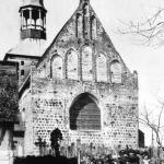 Kościół, widok od wschodu, 1913. (zdjęcie http://www.ctrpnt.com/ahnen/n13011.html)