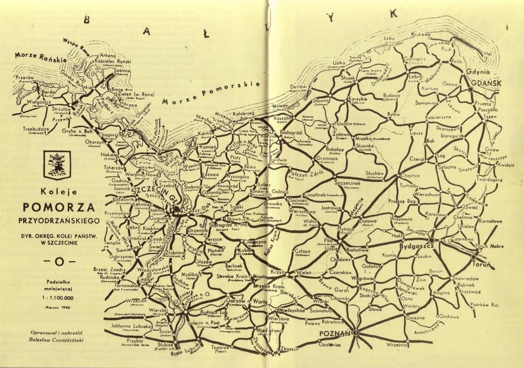 Koleje Pomorza 1946