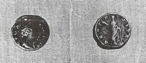 Moneta rzymska znaleziona w 1927 r. w Starninie